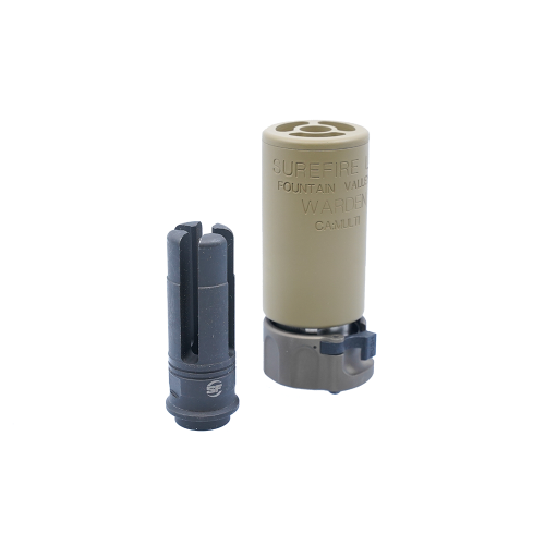[5KU]WARDEN Silencer with 4P Flash Hider(TAN)