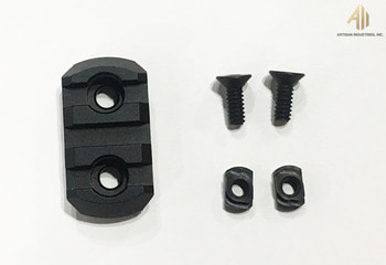 3 Slots Rail Panel For M-LOK System, BLACK, For DAS M4 GDR-15